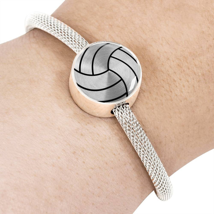 Volleyball Charm Bracelet - Stainless - Personalized Engraved Jewelry
