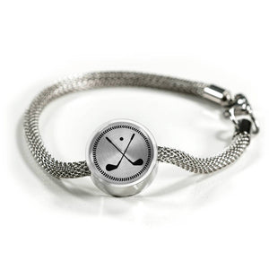Golf Charm Bracelet - Stainless - Personalized Engraved Jewelry