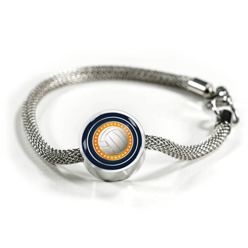 Volleyball Charm Bracelet - Personalized Engraved Jewelry