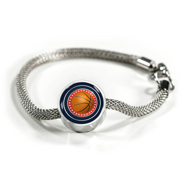 Basketball Charm Bracelet - Personalized Engraved Jewelry