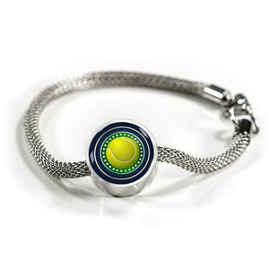Tennis Charm Bracelet - Personalized Engraved Jewelry