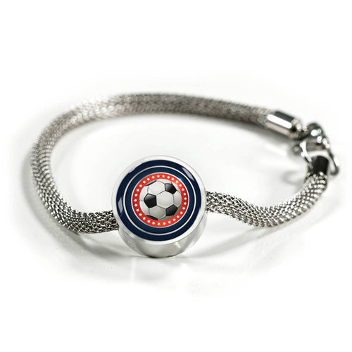 Soccer Charm Bracelet - Personalized Engraved Jewelry