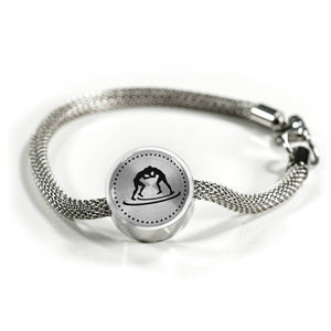 Wrestling Charm Bracelet - Stainless - Personalized Engraved Jewelry