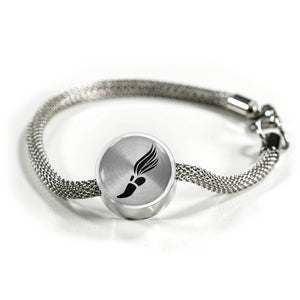 Track & Field Charm Bracelet - Stainless - Personalized Engraved Jewelry