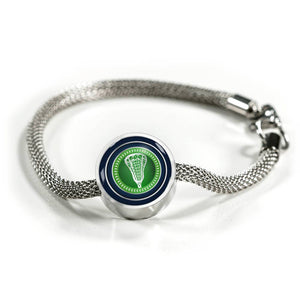 Lacrosse Charm Bracelet - Personalized Engraved Jewelry