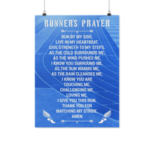 Runner's Prayer Poster - Athlete's Prayer for Runners
