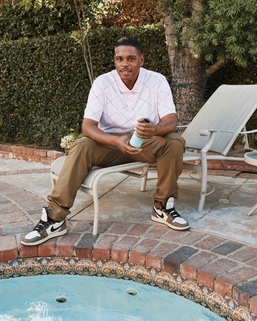 Shawn Holiday at his home in West LA.