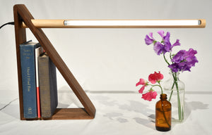 Dovell Table lamp | Walnut base with walnut LED light
