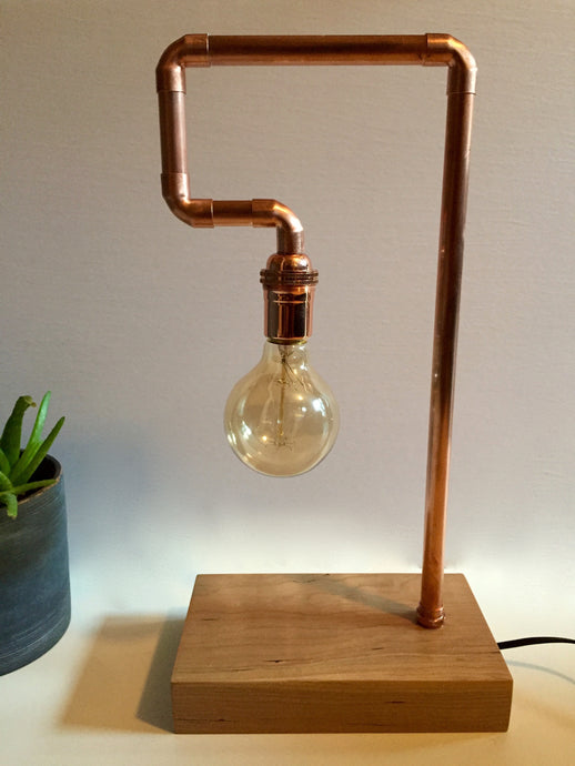 Koppa lamp - Large copper-pipe desk lamp
