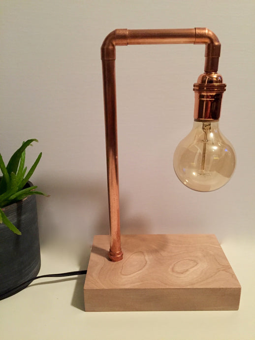 Koppa lamp - Medium copper-pipe lamp