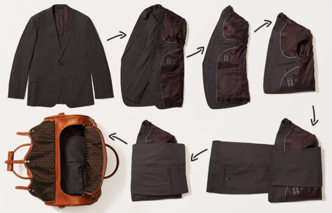 put a suit in a carry on bag