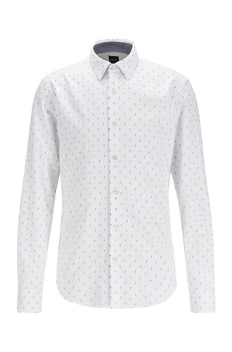 HUGO BOSS Slim-fit Shirt with Exclusive Geometric Print
