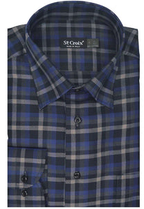 ST CROIX Dark Check Sport Shirt