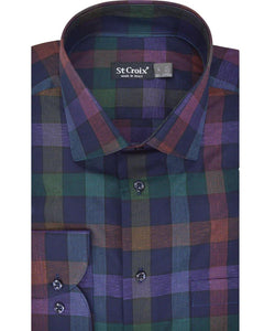 ST CROIX EXPLODED CHECK SPORTSHIRT