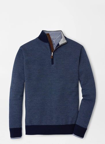 Wool Jacquard Quarter-Zip Sweater