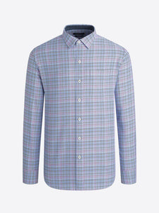 LONG SLEEVE GLEN CHECK COTTON SHIRT