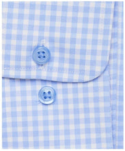 Blue Gingham Performance Dress Shirt