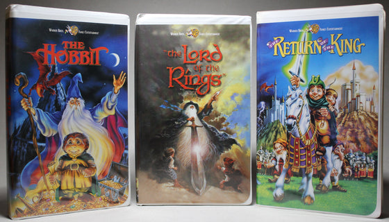 The Fellowship of the Ring: Animated - Ranking Bass / Bakshi, 2001: VHS (3 Tapes)