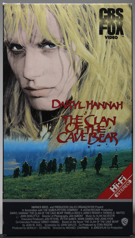 THE CLAN OF THE CAVE BEAR - VHS: CBS FOX Video, 1986