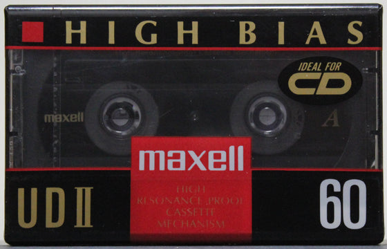 Maxell Type II High Bias 60 minutes - Audio Blank (sealed)
