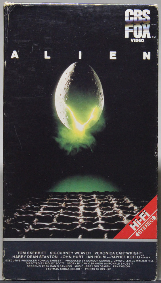 ALIEN - VHS: CBS FOX Video, 1984