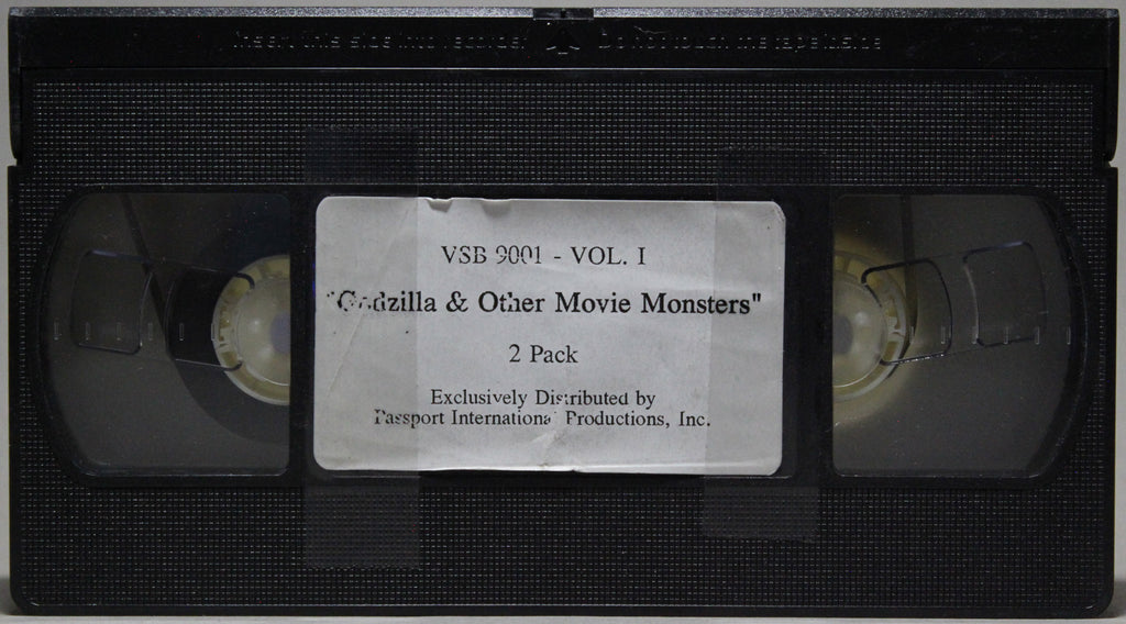 GODZILLA AND OTHER MOVIE MONSTERS - VHS:  Passport International Productions, 1998