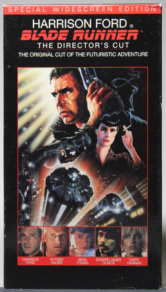 BLADE RUNNER: THE DIRECTOR'S CUT (Widescreen) - VHS: Warner Home Video, 1997