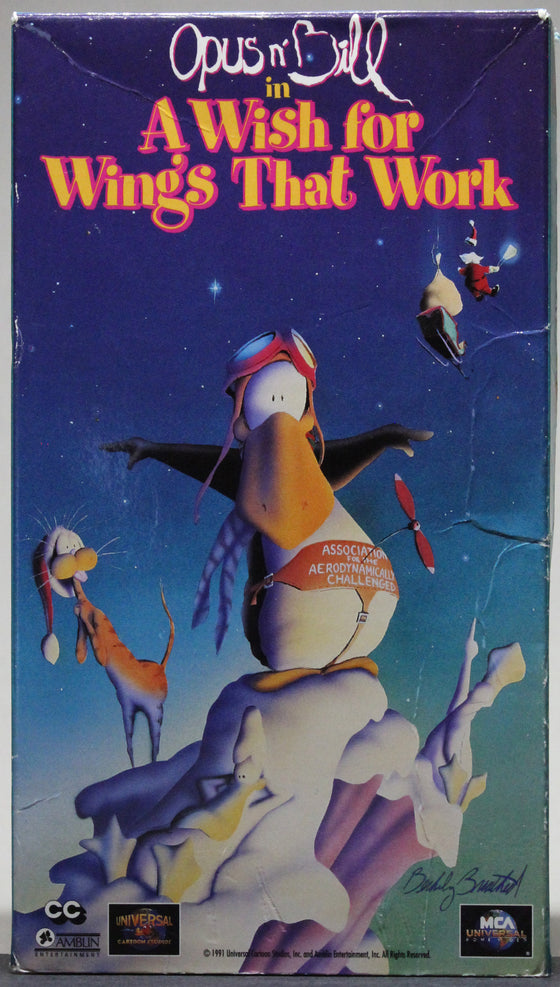 BLOOM COUNTY: Opus n' Bill in A Wish for Wings That Work - VHS: MCA Universal Home Video, 1991