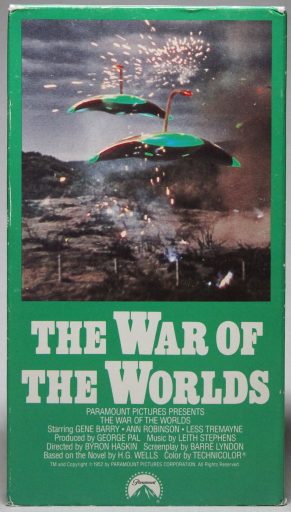 THE WAR OF THE WORLDS - VHS: Paramount, 1990