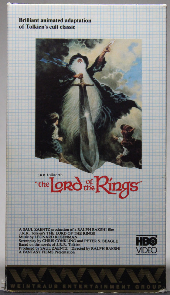 THE LORD OF THE RINGS - VHS: HBO Video, unknown 1980's date
