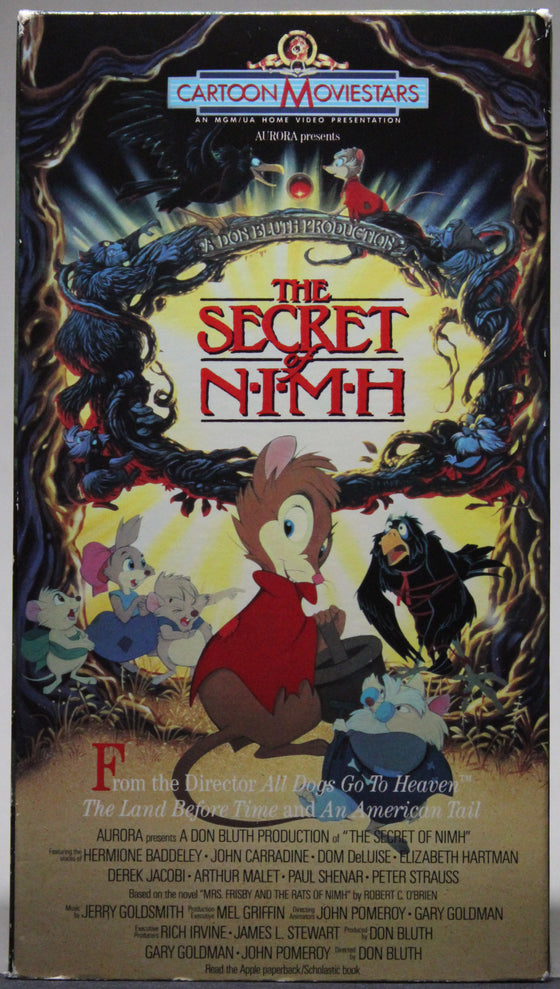 THE SECRET OF N.I.M.H. - VHS: MGM/UA Home Video, 1990