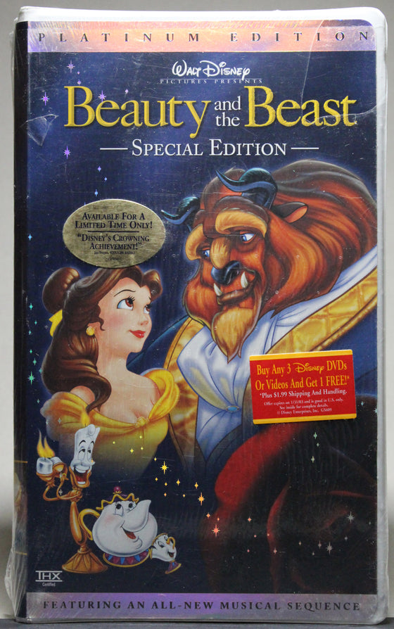 BEAUTY AND THE BEAST: PLATINUM EDITION - VHS (sealed): Walt Disney Home Video, 2002