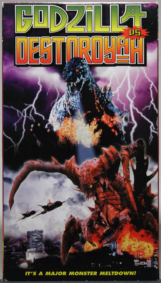 GODZILLA VS. DESTOROYAH - VHS: Columbia Tri Star Home Video, 1998