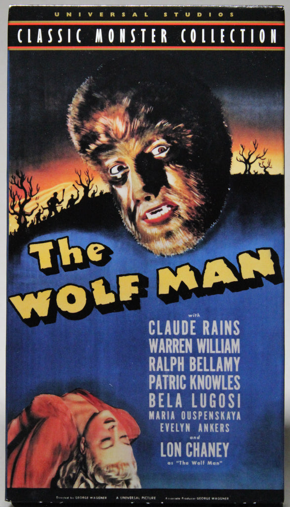 CLASSIC MONSTER COLLECTION: THE WOLFMAN - VHS: Universal Home Video, 1999