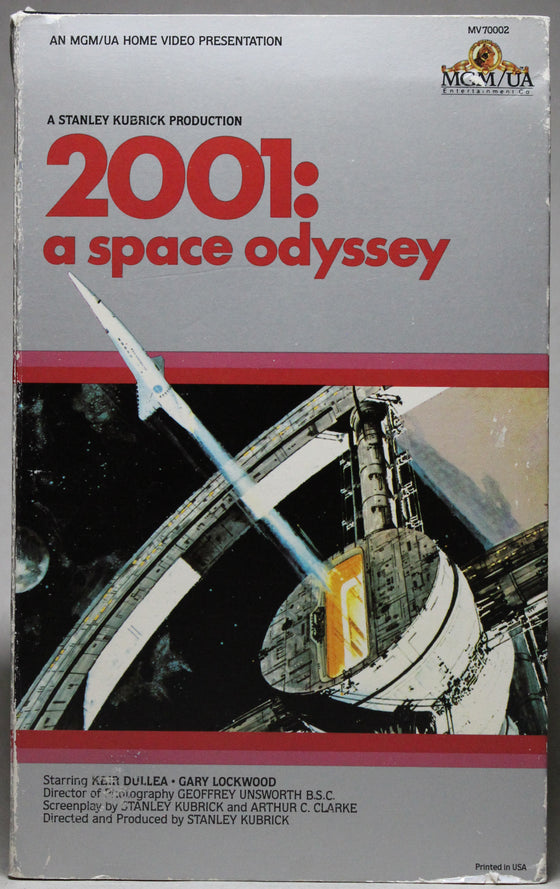 2001: A SPACE ODYSSEY - VHS: MGM/UA Home Video, 1980