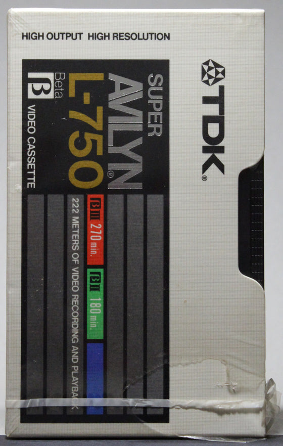TDK Super Avilyn L-750 - Blank BETA (sealed)