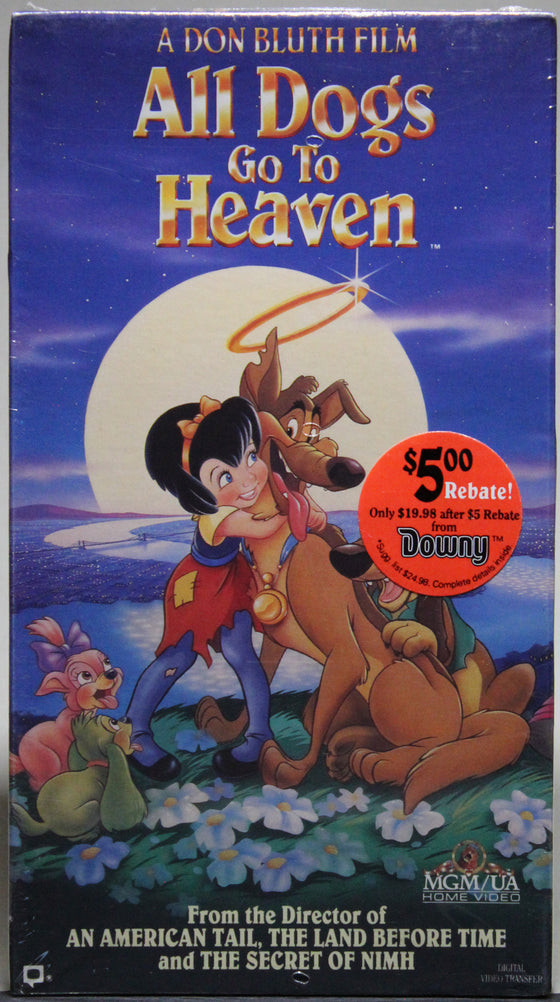 All Dogs Go to Heaven - VHS (sealed)