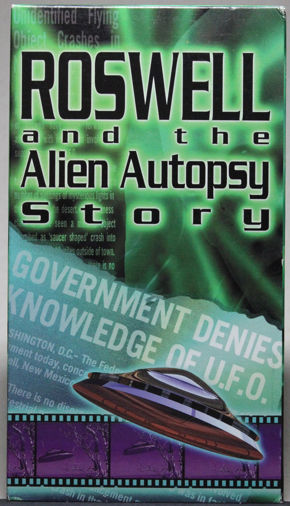 ROSWELL AND THE ALIEN AUTOPSY STORY - VHS: Simitar, 1996