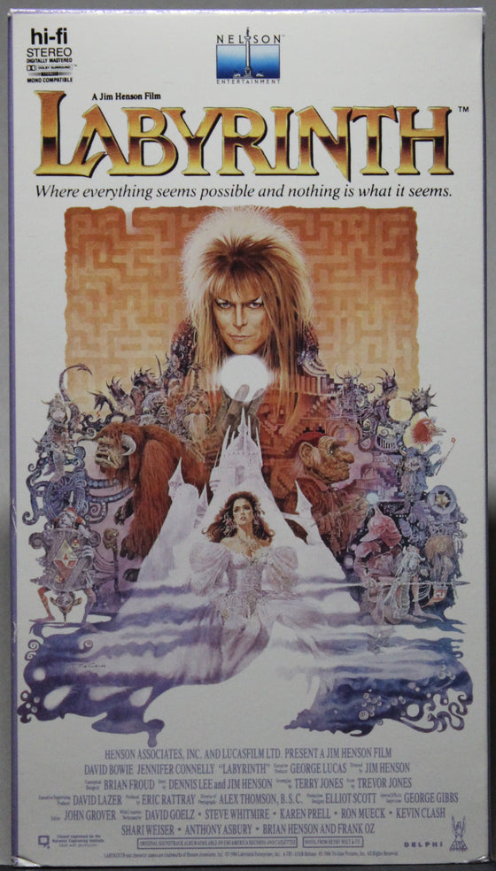 LABYRINTH - VHS:  Nelson Entertainment, 1987