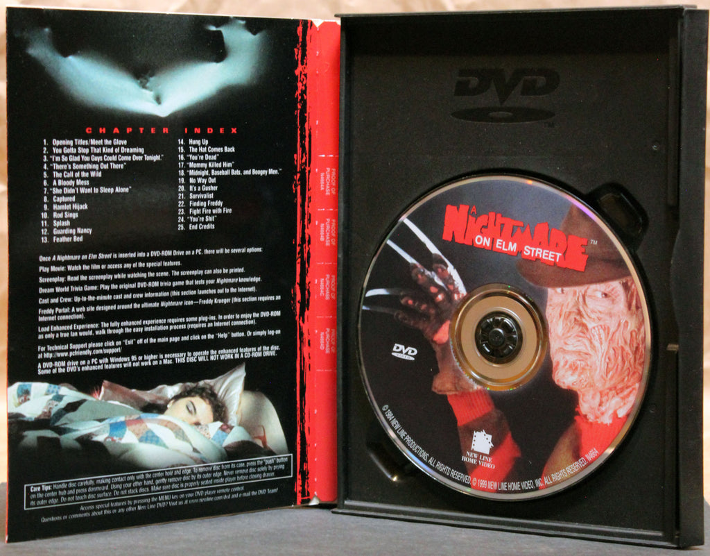 A NIGHTMARE ON ELM STREET - Snapcase DVD: New Line Home Video, 1999