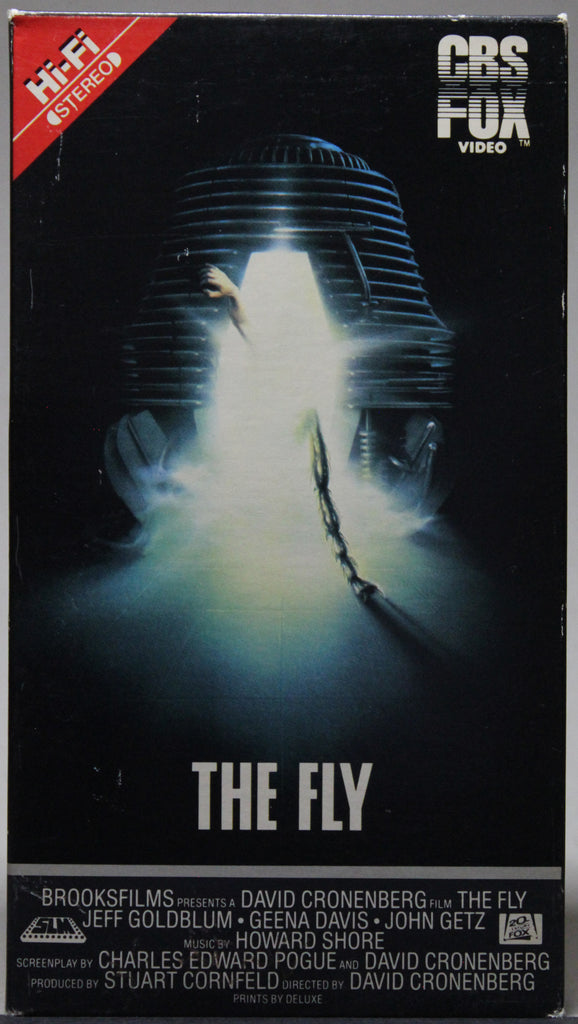 THE FLY -VHS: CBS FOX Video, 1987
