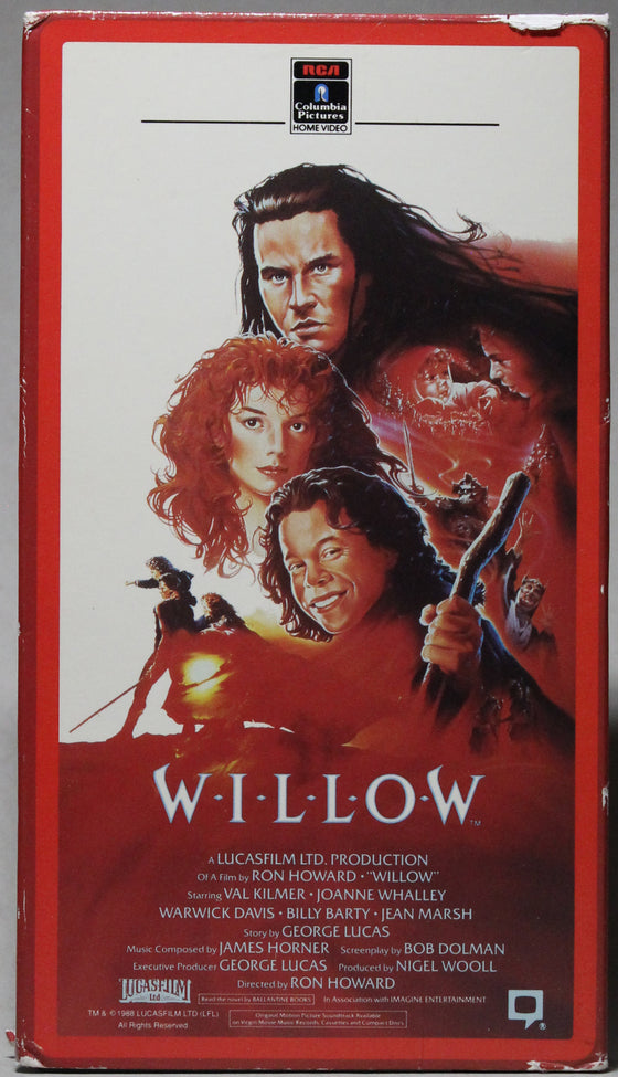 WILLOW - VHS: RCA/Columbia Pictures Home Video, 1988