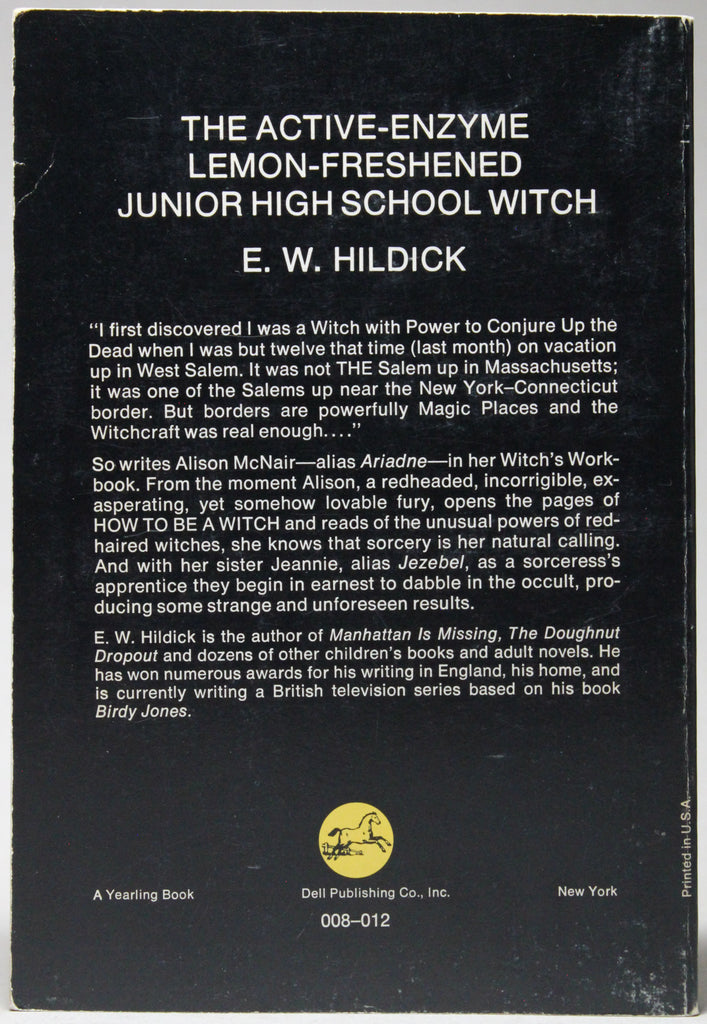 The Active-Enzyme Lemon-Freshened Junior High School Witch