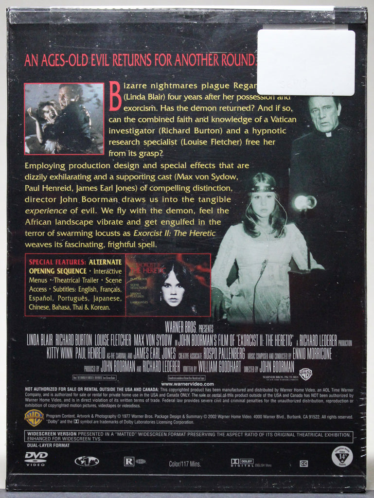 Exorcist III: The Heretic - Snap Case DVD (sealed)
