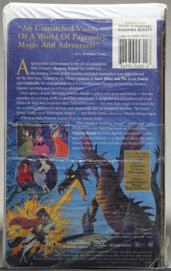 DISNEY MASTERPIECE COLLECTION: SLEEPING BEAUTY - VHS (sealed): Walt Disney Home Video, 1997