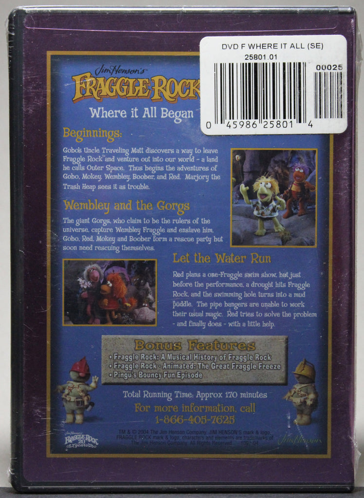 FRAGGLE ROCK: WHERE IT ALL BEGAN - DVD (sealed): 2004