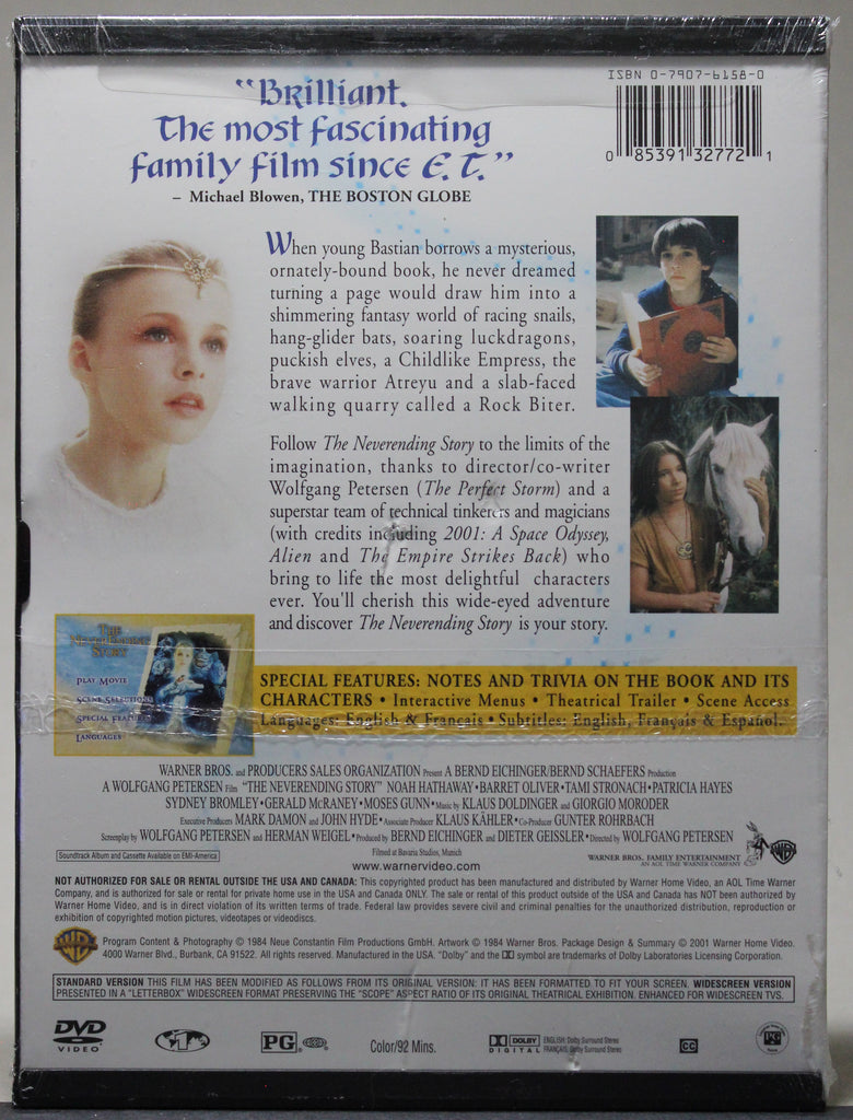 THE NEVERENDING STORY- Snap Case DVD (sealed): Warner Home Video, 2001