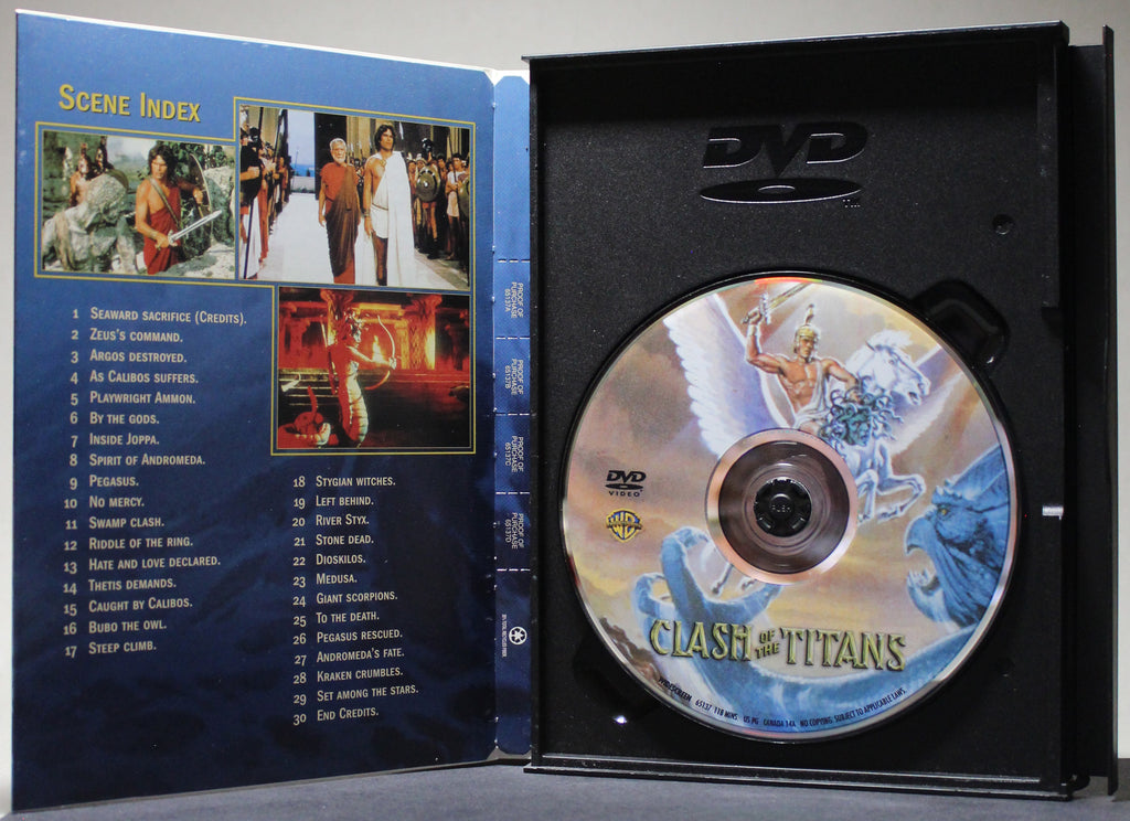 CLASH OF TITANS - Snap Case DVD: Warner Home Video, 2002