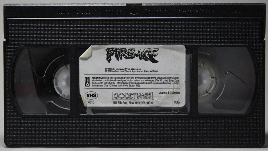 FIRE AND ICE - VHS: GoodTimes Home Video, 1989
