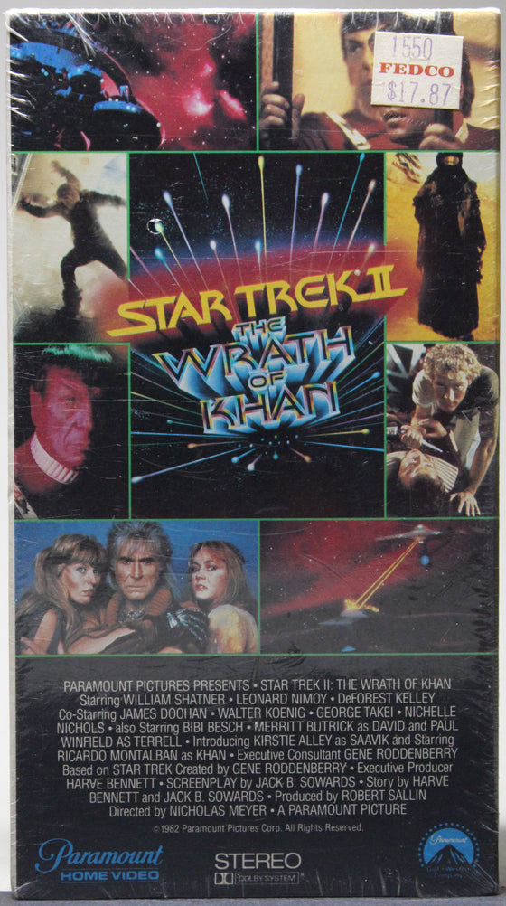 STAR TREK II: THE WRATH OF KHAN - VHS (Sealed): Paramount Home Video, 1982